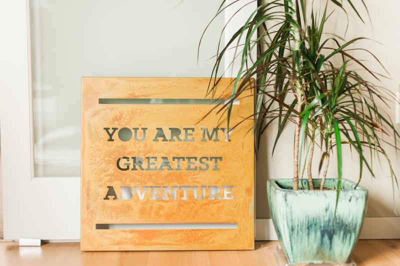"""Greatest Adventure"" Designer Sign by Prairie Dance"